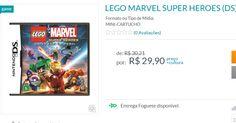 Lego Marvel Super Heroes para Nintendo DS << R$ 2990 >>