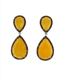 Picture of Yellow Chalcedony Drop Earring