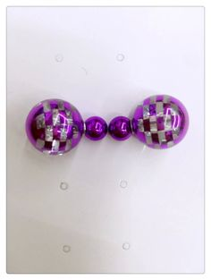 smoke decoration ball double sided stud earrings,wholesale price with small quantity ,contact us : weiweichimi@hotmail.com