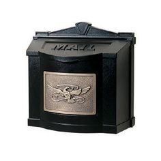 """Gaines Mail Boxes WM-6WM-6 WM-6-Eagle Design Door Hardware Wallmount Mailbox Black W/ Antique Bronze Plaque With Eagle OR Leaf Design by Gaines Mail Boxes. $229.00. Gaines Mail Boxes WM-6 Door Hardware Wallmount Mailbox Black W/ Antique Bronze Plaque With Eagle OR Leaf Design - Sold with a lockable insert. Or With No Lock With Eagle OR Leaf Design Color: Black Plaque Finish: Antique Bronze Height: 14 3/8"""" Width: 14 7/8"""" Depth: 7 1/2"""" Weight: 13 lbs. Sold with a ..."""