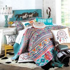 bedding Sets Stripes - Teen Cowgirl Bedding Western Bedding for Tweens. Teen Bedding, Pink Bedding, Quilt Bedding, Bedding Sets, Luxury Bedding, Cowgirl Theme Bedrooms, Bedroom Themes, Bedroom Ideas, Cowgirl Bedroom Decor