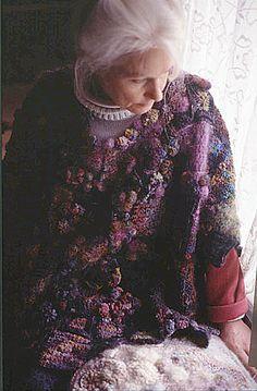 sylvia cosh organic patchwork sweater 1970s Crochet Designers: James Walters and Sylvia Cosh