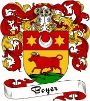 Boyer Coat of Arms  Boyer Family Crest   VIEW OUR FRENCH COAT OF ARMS / FRENCH FAMILY CREST PRODUCTS HERE