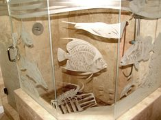 Glass Sandblasting Fish - note the multiple levels of opacity