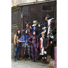 Disney's 'Descendants' Trailer A New Generation of Evil ❤ liked on Polyvore featuring disney and descendants