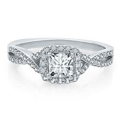 Helzberg Diamond Masterpiece 3/4 ct. tw. Diamond Engagement Ring in 18K Gold