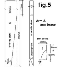 Adirondack chair arm and brace plan