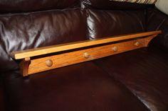 "Vintage Solid Wood 36"" Wall Shelf w/Coat Rack/Wooden Display Shelf/Wood Hanging Wall Shelf/Oak Coat Rack/Vintage Coat Rack/Farmhouse Shelf by DebiLynneVintage on Etsy"