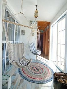 Hammock chairs? I want to live in a lighthouse:)