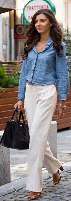 Massimo Dutti Cream Waist Pleat Wide Leg Trousers