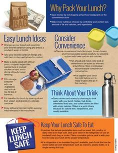 """8 ½"""" x 11"""", 50 sheets, 2-sided Build a better bag lunch with suggestions and tips from the 1 Balanced Lunch Bag Handouts! An easy to remember equation teaches consumers to fill their lunch bag with: • 1/2 fruits and vegetables • 1/4 of the bag whole grains • 1/4 of the bag lean protein • A serving of low-fat dairy An easy to read chart on the front side of the handout gives suggestions of healthy and easy foods to pack from each food group. The handout backside gives reasons why you should pack  Nutrition Poster, Fast Food Restaurant, Lean Protein, Group Meals, Nutrition Education, Fruits And Vegetables, Equation, Grains, Fill"""