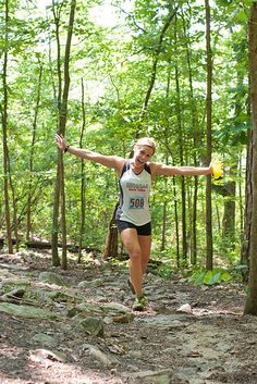 happy people running on trails