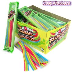 Airheads Xtremes, Airhead Extreme Candy With Rainbow Berry Flavor. Buy Airheads Xtremes In Bulk. Browse For Airheads Xtremes Sour Belts Candy Online. Bulk Candy, Candy Store, Candy Table, Candy Buffet, Airhead Extremes, Airheads Candy, Sour Belts, Rainbow Candy, Rainbow Sweets