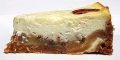 Pecan pie on bottom - Cheesecake on top. Sounds too good to be true.