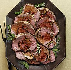 Apricot-and-Herb-Stuffed Leg of Lamb - Video Recipe - FineCooking Boneless Leg Of Lamb, Frozen Vegetables, Dried Apricots, Thing 1, Lamb Recipes, Easter Dinner, Daily Meals, Dinner Menu, Food Videos