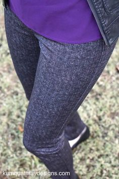 Stitch Fix December 2015 Liverpool Hanna Skinny Pant in Gray Close Up View