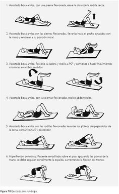 Low back pain exercises.