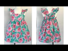 Baby Dresses, Summer Dresses, Designer Baby, Baby Design, Frocks, Stitching, Youtube, Diy, Fashion