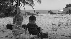 Niece and my boy enjoying the beach