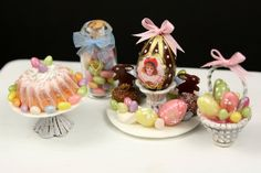 12th Scale Easter Miniatures - Emmaflam & Miniman.  DHMS - What wonderful quality. www.dollshousemag.co.uk