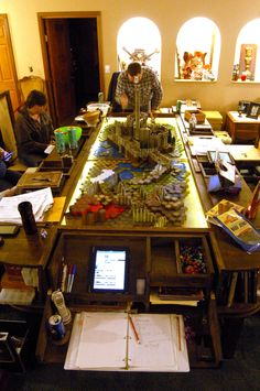 With Heroscape tiles on the tac map, the group faced off against a nasty group of monsters.