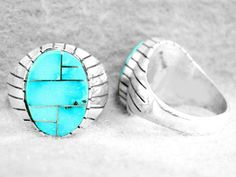 Rings 98500: Navajo Mens Ring Size 9½ Turquoise Sterling Silver Native American Ray Jack Z -> BUY IT NOW ONLY: $159.95 on eBay!