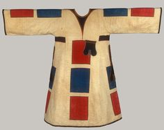 Africa | Textile Tunic (Jibbeh) from the Islamic Mahdi community of Sudan | ca. late 19th century | Cool and Cotton