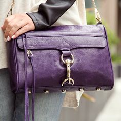 Now I love this purple handbag by Rebecca Minkoff.  I think purple could be the new neutral because this would go with anything color outfit.