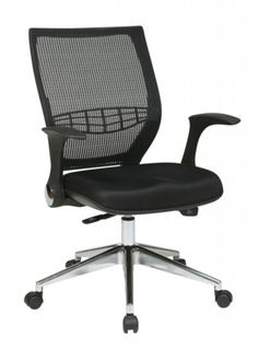 ProGrid Black Chrome Fabric Metal Back Managers Chair