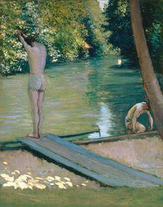 Gustave Caillebotte-Badende am Ufer des Flusses Yerres.