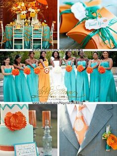 Love this. I think I'd trade the orange in for a peachy/coral color!