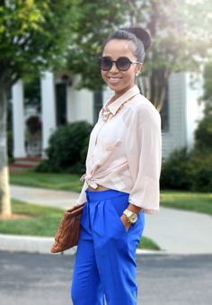 love the neutral shirts and the bright colored pants