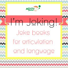 Jokes organized by phoneme/position and season to target either articulation or language and pragmatic goals. Lots of fun! Halloween jokes (FREEBIE) sample too!
