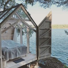 Tiny Glass House: 15 tiny houses with a view of the world – Amazing Glasses House Ideas & Glasses House Trends 2020 Outdoor Spaces, Outdoor Living, Outdoor Bedroom, House Ideas, Gravity Home, Lake Photos, Cabins In The Woods, Garden Cottage, Glass House Garden