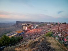 The Gorge Amphitheater, Washington   This music venue is unique due to its sweeping views of the Columbia River all while providing camping exclusive to concert goers.
