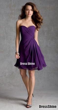 I like this - A line Sweetheart Knee Length Chiffon Bridesmaid Dresses. Do you think I should buy it?