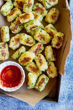 4 Ingredient Zucchini Tots.