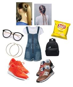 """""""City Trip/Amusement Park Trip✨"""" by angeliqueamor on Polyvore featuring RE/DONE, WithChic and New Balance"""