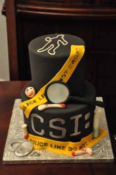CSI/Crime Scene Cake i want this for my graduation cake