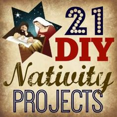 21 DIY Nativity Projects from Smart Girls DIY For now you'll just have to guess… it's similar to one of these awesome DIY Advent Calendar ideas. Nativity Crafts, Christmas Nativity, Christmas Crafts, Nativity Sets, Outdoor Nativity Scene, Christmas Yard, Christmas 2014, Outdoor Christmas, Christmas Stuff