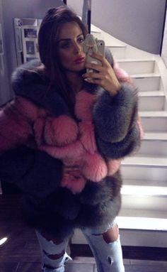 Black and pink fur