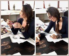 Katarina Vavrova' -etching process