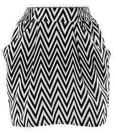 black zigzag skirts