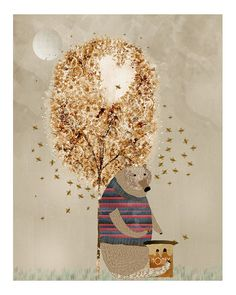 The honey tree.colorful illustrations with artist by oxleystudio