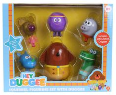 This colourful set includes 6 character figurines Duggee, Betty, Tag, Roly, Happy and Norrie. Click here to buy Hey Duggee Squirrel Figurine Set With Duggee.