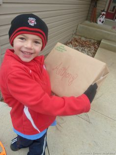 Elf on the Shelf First Arrival - package and letter from Santa to kids (from Moms Gonna Snap)
