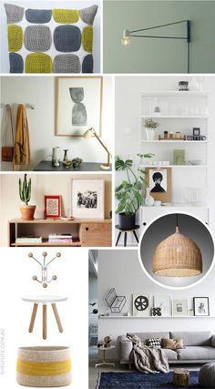 shelf life living room mood board