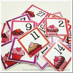 Cute Calendar Cards free from Doodle Bugs Teaching Valentine Calendar, February Calendar, Cute Calendar, Calendar Time, Calendar Printable, Preschool Calendar, Classroom Calendar, Classroom Ideas, Calendar Numbers