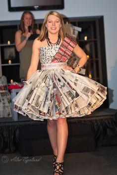 A newspaper dress.