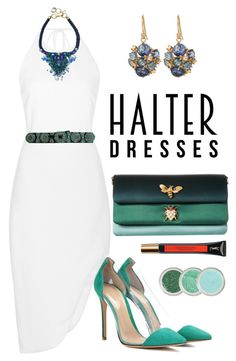 """""""Untitled #284"""" by elenarudometov ❤ liked on Polyvore featuring Cushnie Et Ochs, Dolce&Gabbana, Gianvito Rossi, Suzanne Kalan, Yves Saint Laurent and halterdresses"""